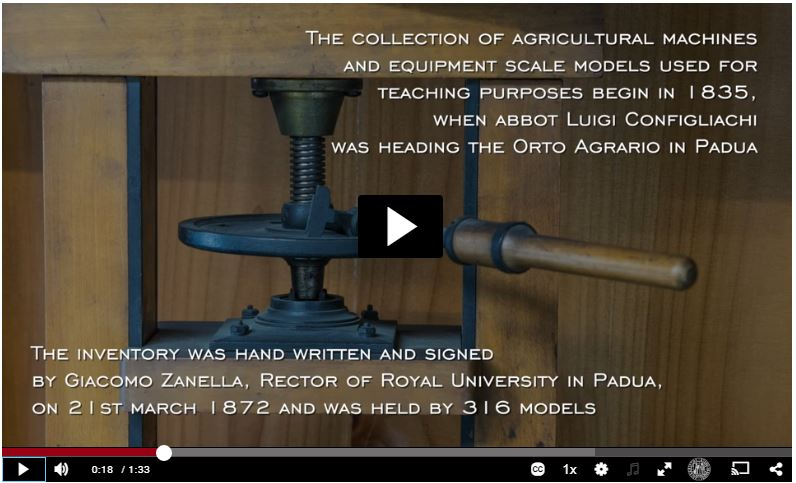 Movie on the collection of agricultural machine and historical equipment scale models